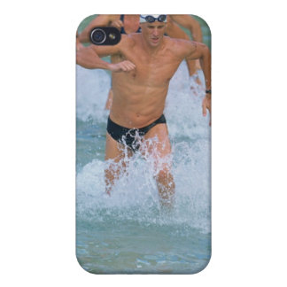 Triathloners Running out of Water 2 iPhone 4 Case