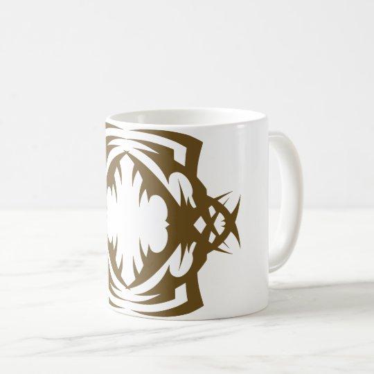 Tribal 16 gold to over white coffee mug
