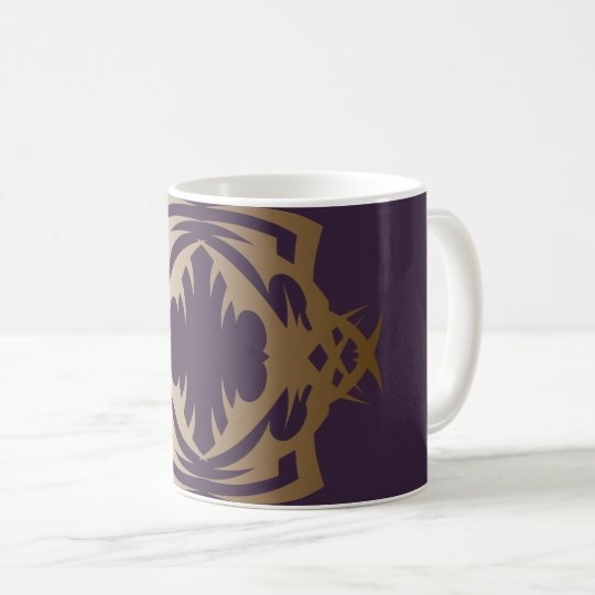 Tribal 16 Golden Delicious ones over purple Coffee Mug
