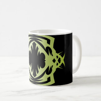 Tribal 16 green to over black coffee mug