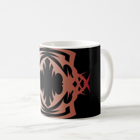 Tribal 16 network colors to over black coffee mug