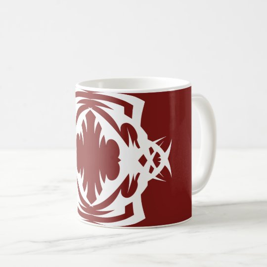 Tribal 16 white to over network 2 coffee mug