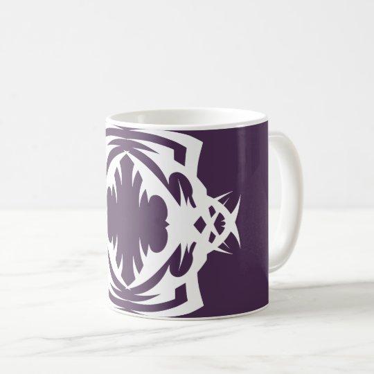Tribal 16 white to over purple coffee mug