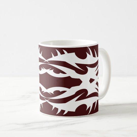 Tribal 17 white to over network 2 coffee mug