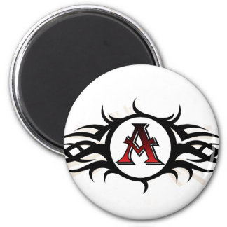 Tribal A Round Magnet