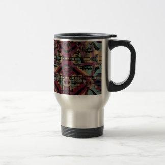 Tribal abstract art gifts travel mug