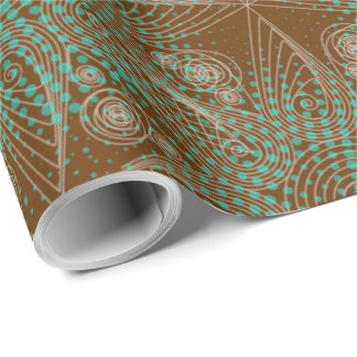 Tribal abstract brown pattern wrapping paper