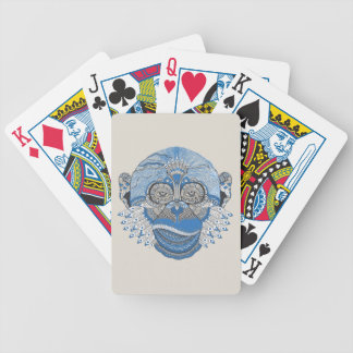 Tribal Abstract Monkey Face Design Bicycle Playing Cards