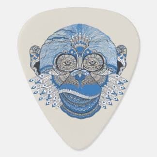 Tribal Abstract Monkey Face Design Plectrum