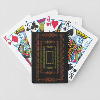 Tribal abstract. poker deck