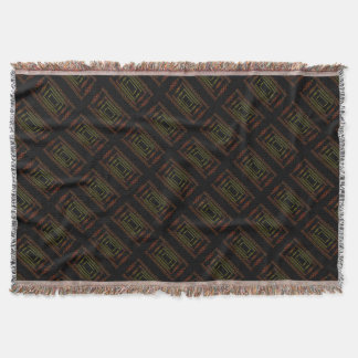 Tribal abstract. throw blanket