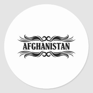 Tribal Afghanistan Round Stickers