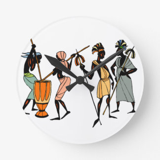 Tribal African Clock design