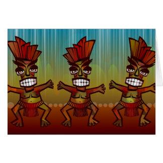 Tribal African Dance Card