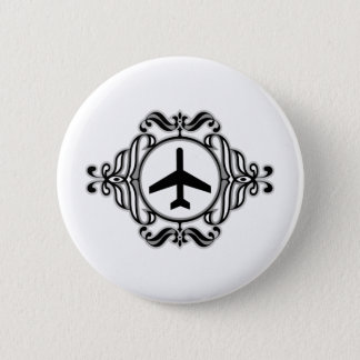 Tribal Airplane 6 Cm Round Badge