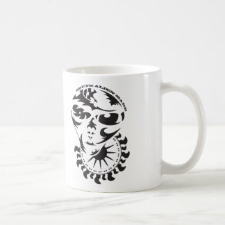 Tribal Alien with sun and crop circle Coffee Mug