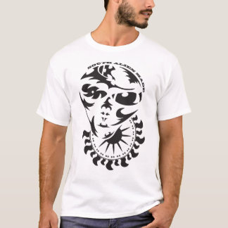 Tribal Alien with sun and crop circle T-Shirt