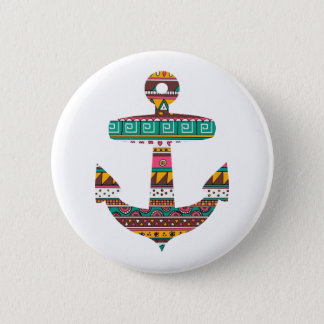 Tribal Anchor 6 Cm Round Badge