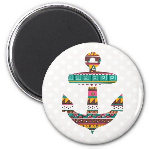 Tribal Anchor Fridge Magnets