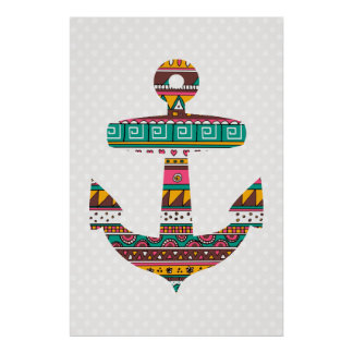 Tribal Anchor Poster