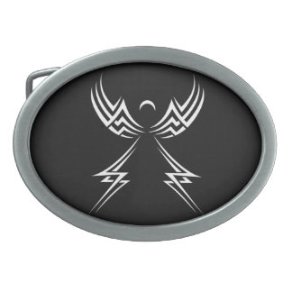 Tribal Angel custom belt buckle