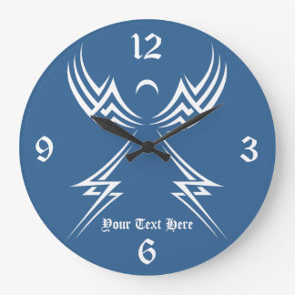 Tribal Angel custom wall clock