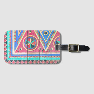 Tribal Antique Colorful Arabian Door Luggage Tag