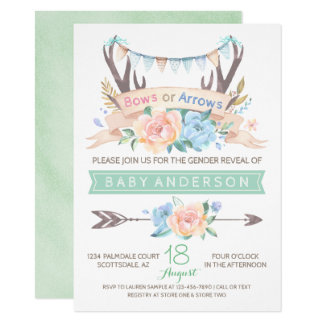 Tribal Antler Gender Reveal Invitation