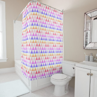 Tribal Arrow Rainbow Prism Geometric Shower Curtain