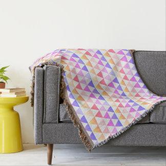 Tribal Arrow Rainbow Prism Geometric Throw Blanket