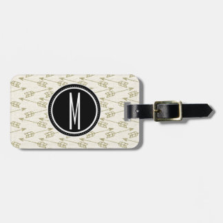 Tribal Arrows | Black Monogram Luggage Tag