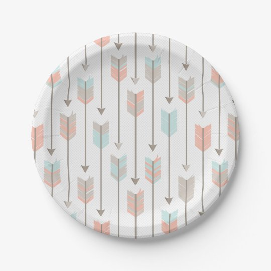 Tribal Arrows Pattern 7 Inch Paper Plate