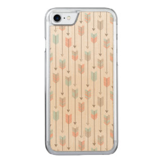 Tribal Arrows Pattern Carved iPhone 8/7 Case