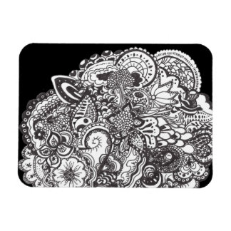 Tribal art ink drawing magnets