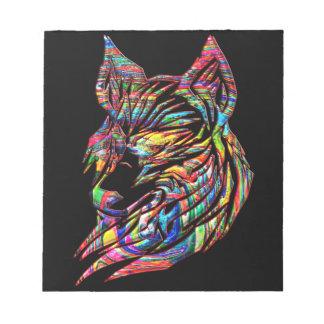 """Tribal Art"", ""Tribal Wolf"", ""Abstract Art"", Triba Notepad"