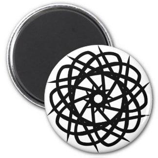 Tribal Artwork 6 Cm Round Magnet