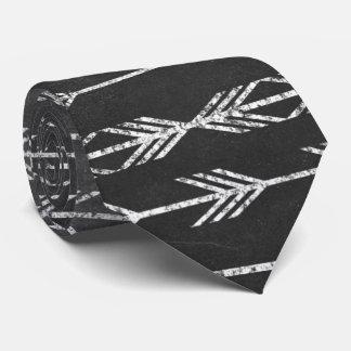 Tribal Aztec Arrow Pattern Chalkboard Print Tie