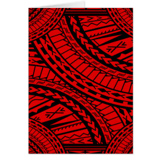 Tribal Aztec Art Red Black Card