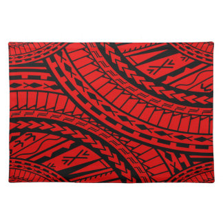Tribal Aztec Art Red Black Placemat