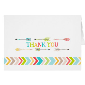 Tribal Aztec Baby Shower Thank You notes
