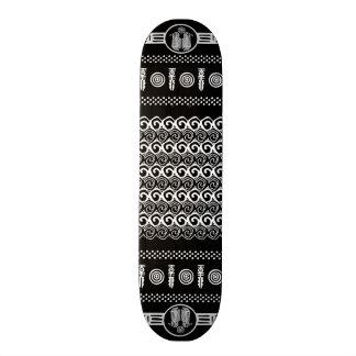 Tribal Aztec Black White Geometric Skateboard