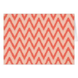 Tribal aztec chevron zig zag stripes ikat pattern greeting card