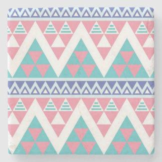 Tribal aztec colorful pattern stone coaster