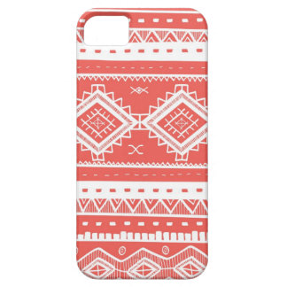 Tribal Aztec Lace Pattern (coral) iPhone 5 Case