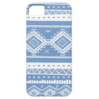 Tribal Aztec Lace Pattern (periwinkle blue) Case For The iPhone 5