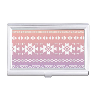 Tribal aztec ombre pattern business card holder