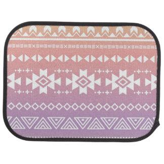 Tribal aztec ombre pattern car mat