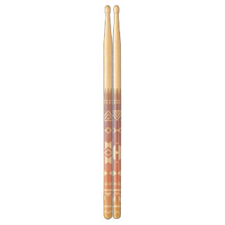 Tribal aztec ombre pattern drumsticks