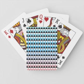 Tribal Aztec Ombre Pattern Poker Deck