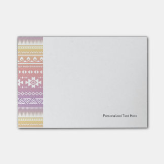 Tribal aztec ombre pattern post-it notes